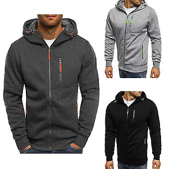 Men Hat Zipper Running Winter/autumn Thermal Hoodies Sweatshirts
