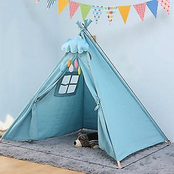 Children& s غرفة الأميرة خيمة داخلية لعب البيت للطي لعبة خيمة, الحجم:1.35m (الأزرق)