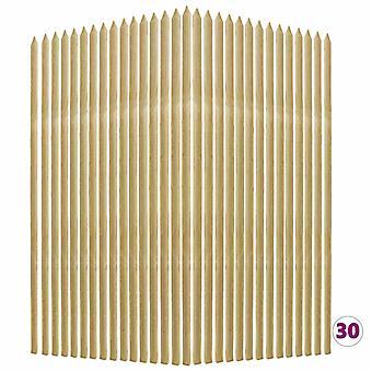Plant Support Sticks 30 Pcs 2.8x2.8x150 Cm Impregnated Pinewood