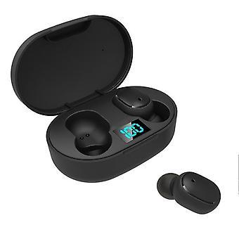 E6S LED Display Trådlös hörlurar TWS Bluetooth V5.0 Headset Vattentäta Bluetooth-öronsnäckor