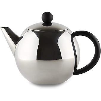 Café Ole Rondo Stainless Steel Tea Pot Easy Pour Teapot with Infuser Basket 35oz 1000ml