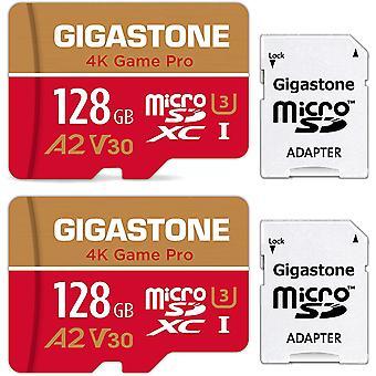 FengChun 2er-Pack Speicherkarte, MicroSD Karte 128GB U3 A1 4K Full HD Video für Kameras, Dashcam,