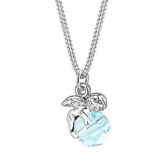 Elli Kvinders halskæde Elegant Angel Vedhæng med Sterling Silver Swarovski Krystaller 925 (1)