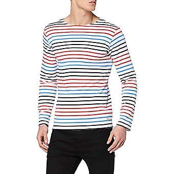 Armor Lux 77661 T-Shirt, Multicolored (Blanc/Rouge E20/Navire/Lap Eiz), Large Man