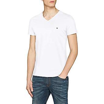 Tommy Hilfiger Core Stretch Slim Vneck T-Shirt, Weiß (Bright White 100), X-Large Herren