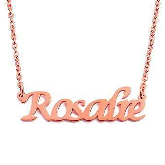 KL Rosalie aangepaste naam Rose vergulde ketting 18 karaat verstelbare ketting 16 19 cm.