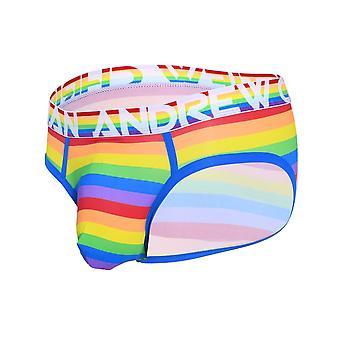 Andrew Christian Pride Stripe Letter w/ Almost Naked | Men's Underwear | Men's Slip