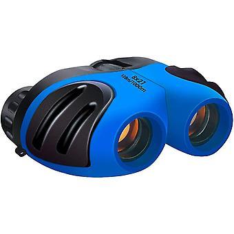 Childrens Binoculars 8 x 21 - Binocular Telescope with Multiple Colors - Observation Toy - Gift for Children, Boys, Girls(Blue)