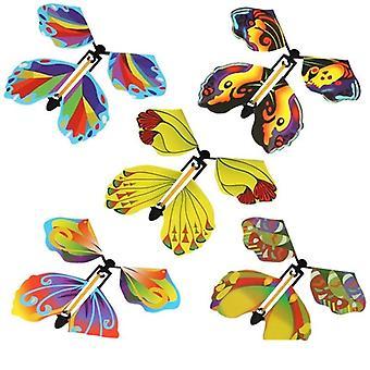 Lentävä kirja keiju kuminauha powered wind up butterfly lelu suuri yllätys