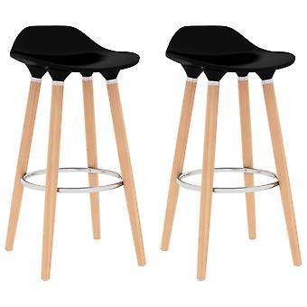 Barstühle 2 St Black