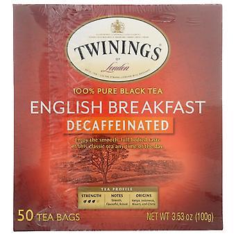 Twining Tea Tea Englsh Brkfst Decaf, Case of 6 X 50 Bags