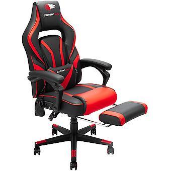 SOUTHERN WOLF E-sport Chaise Gaming avec repose-pieds de massage Chaises multifonctionnelles érogonmiques avec Caisson de basses Bluetooth en cuir pivotant réglable pour les adolescents