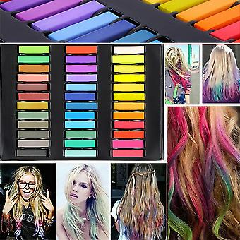 12/24/36 Colors Non-toxic Temporary Pastel Hair Square Hair Dye Color Chalk