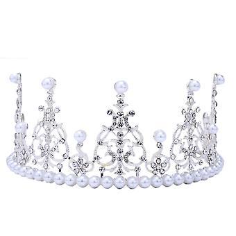 Pearl Crystal Tiara Crown Hair Accessories Wedding Bridal Ornaments Headband
