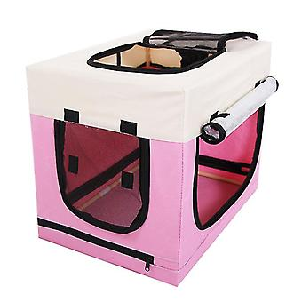 Foldable Pet Playpen Exercise Kennel With Carrying Case,exercise Pen Tent House(PINK)