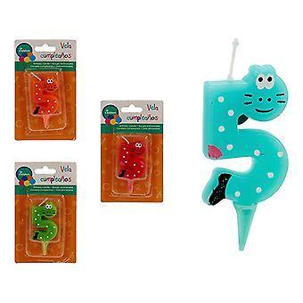 Candela 5 Animali di compleanno