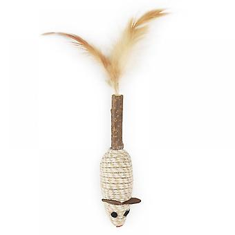 Feathers Of Hemp Rope Mouse Toy For Cat
