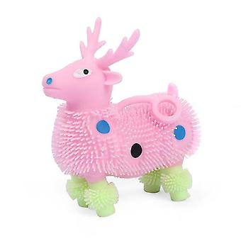 Soft Latex Deer Squishy Toy Glowing Animal Stress Reliever