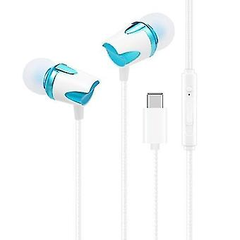 Headphones headsets portable usb type-c wired in-ear earphone with mic accessories