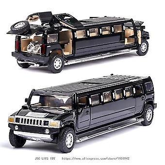 1:32 legering hummer limousine metalen auto model (zwart)
