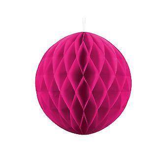 30cm mørk rosa vev papir honeycomb ball bryllup fest dekorasjon