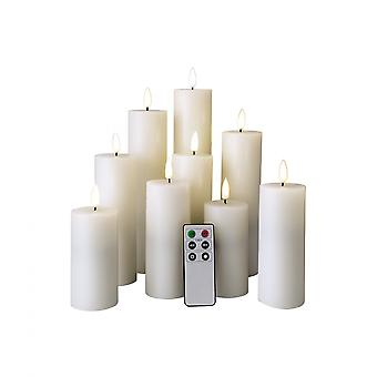 Rebecca Furniture Set 9 Electric White Candles Without Flame Led Light With Remote Control