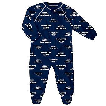 NFL Baby Zip Romper - RAGLAN Seattle Seahawks