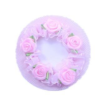 4 PC Riutilizzabile Cute Girls' Flower Lace Bun Hair Nets Per ballerini Balletto Dancewear Kids' Bun Net Cover