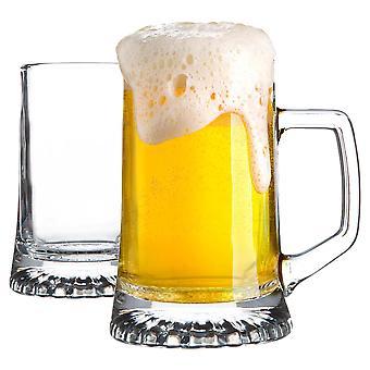 2x Tasses à bière en verre Stern Tankard Classic German Style Pale Ale Stein Tankard 510ml