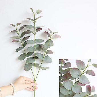 Fake flowers plant nordic style eucalyptus artificial plants wedding silk flower bunch for home hotel party living room decor