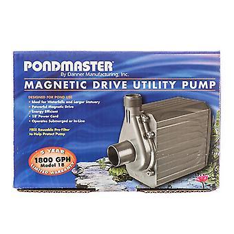 Pondmaster Pond-Mag Magnetic Drive Utility Pond Pump - Model 18 (1800 GPH)