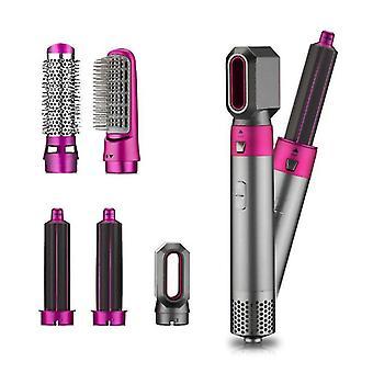 5 in1 One-Step Hair Blow Dryer Volumizer Straightener & Curler Comb Hot Air Brush