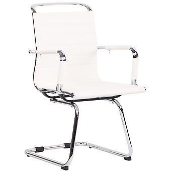 Chaise de bureau - Chaise de bureau - Bureau à domicile - Moderne - Blanc - Métal - 57 cm x 60 cm x 96 cm