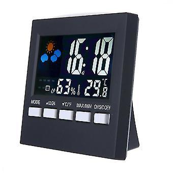 Alarm clocks weather clock color screen digital display thermometer humidity clock colorful lcd alarm