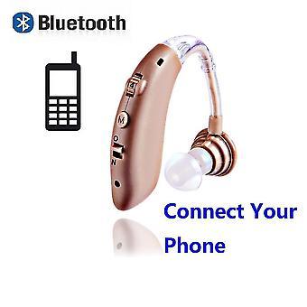 Mini audífono bluetooth universal recargable digital bte amplificador de sonido de tono ajustable