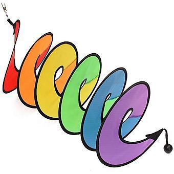 1 Pcs Coloré Spirale Moulin à Vent Tente Wind Spinner Pour Les Décorations de Jardin (couleur)