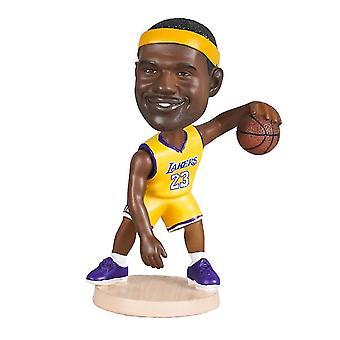 לנבנה לברון ג'יימס פעולה דמות פסל בובה ראש כדורסל בובה קישוט בובה