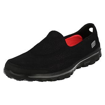 Ladies Skechers gå Walk2 Casual pumper lineær 13597