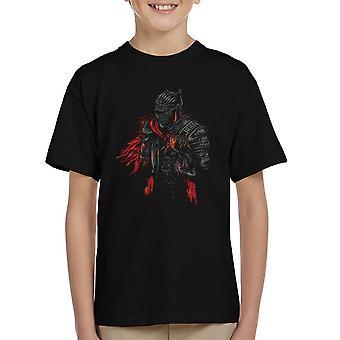 Dark Souls rote Ritter Kinder T-Shirt