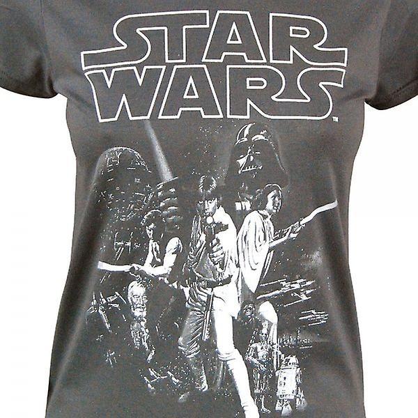 Star Wars Womens Star Wars un nouvel espoir affiche Crew Neck T Shirt