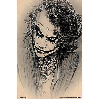 Бэтмен Джокер - эскиз Плакат Плакат Печать