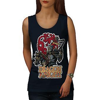 Dragon Knight Women NavyTank Top | Wellcoda