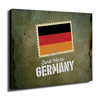Saksan matka lippu Wall Art Canvas 40 cm x 30 cm | Wellcoda