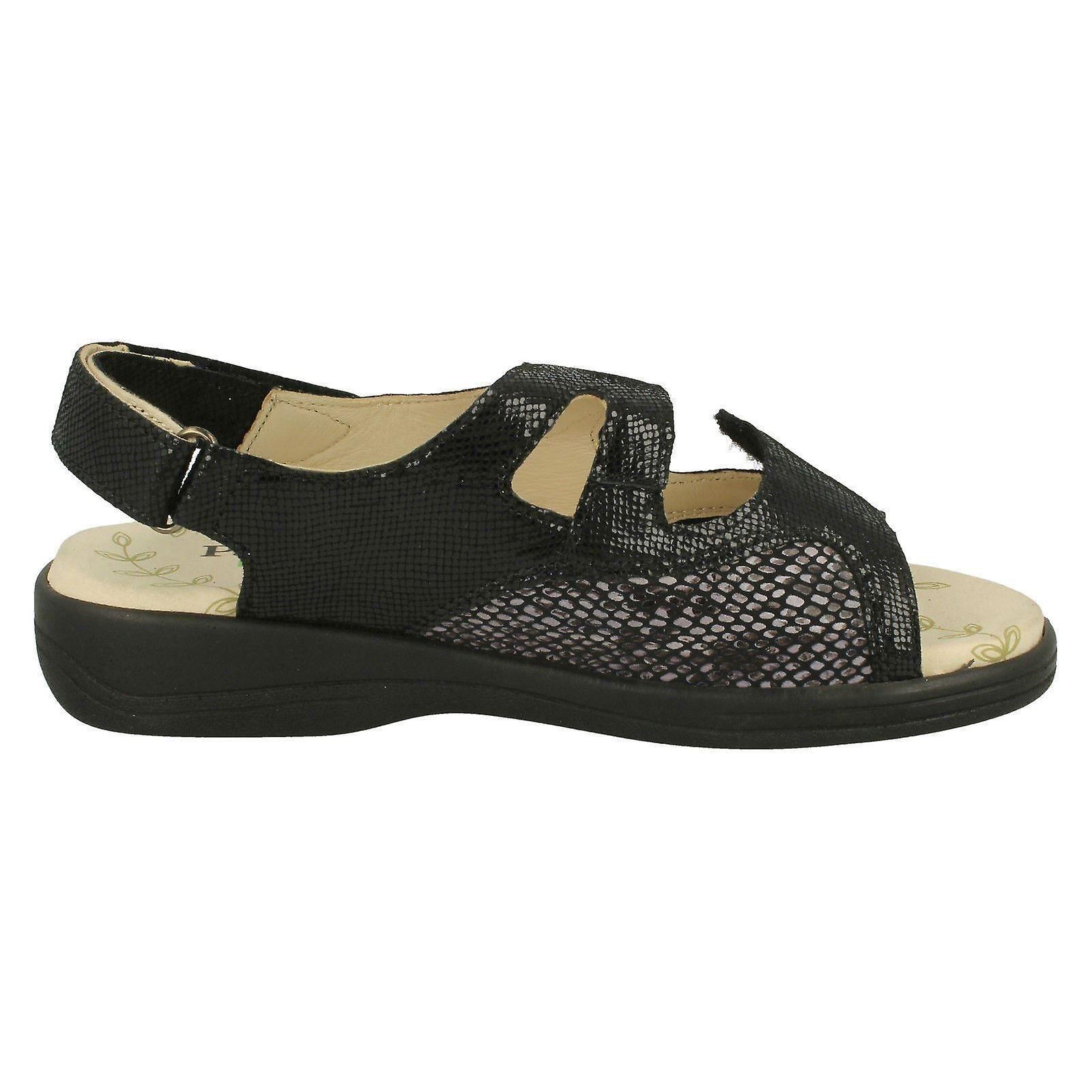 Dames Padds Crochet & Boucle Fixation Sandales Gemstone - Remise particulière