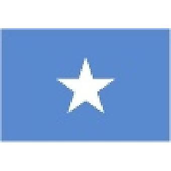 Somalia/Somalian Flag 5ft x 3ft (100% Polyester) With Eyelets