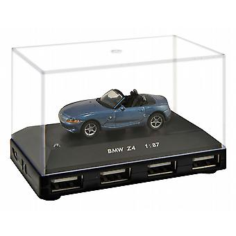 Official BMW Z4 Car 4-Port USB Computer Hub - Blue