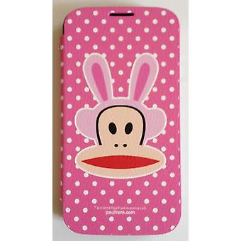 Original Flip Case Cover Paul Frank® leatherette for Samsung Galaxy S4 / LTE with Design Bunny pink
