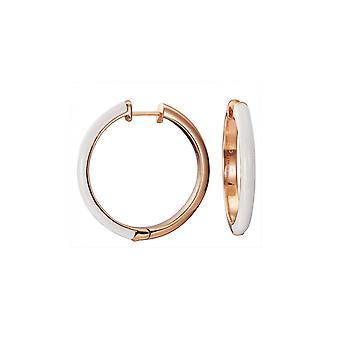 ESPRIT kvinnors Örhängen Creole rostfritt stål Rosé Fancy vit ESCO11656G000