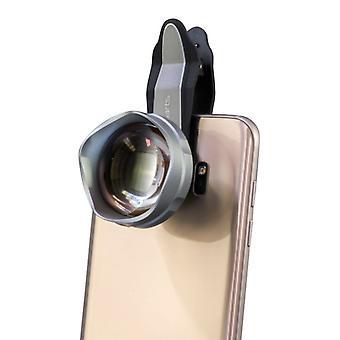 Premium uniwersalny teleobiektyw obiektywu teleskopu klipu na Android IOS srebrny Top