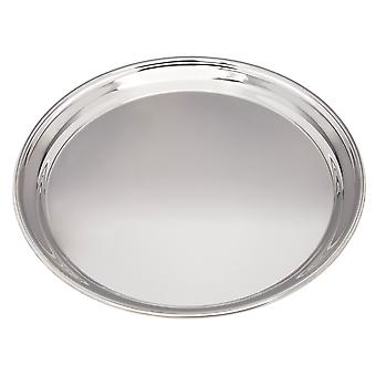 Large 300Mm Round Pewter Tray